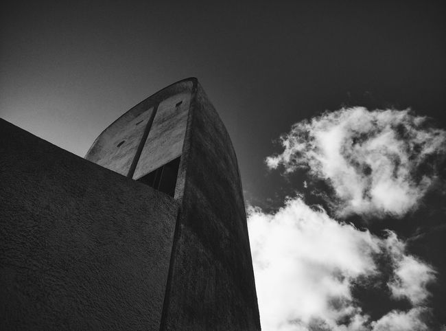 The Architect - 2017 EyeEm Awards Tower Ronchamp Modern Architecture Chapel Church Lecorbusier France 🇫🇷 Blacksky Light Outdoors