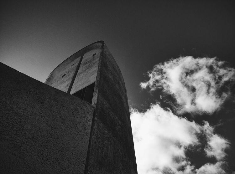The Architect - 2017 EyeEm Awards Tower Ronchamp Modern Architecture Chapel Church Lecorbusier France 🇫🇷 Blacksky Light Outdoors