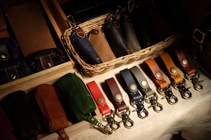 Handmade Accessories Handmade Handmade Crafts Leathers Leatherfashion Leatherwork Thailand Nontaburi Leather Art Leather Craft Leather Keychain Close-up Large Group Of Objects Leather Bag Bag