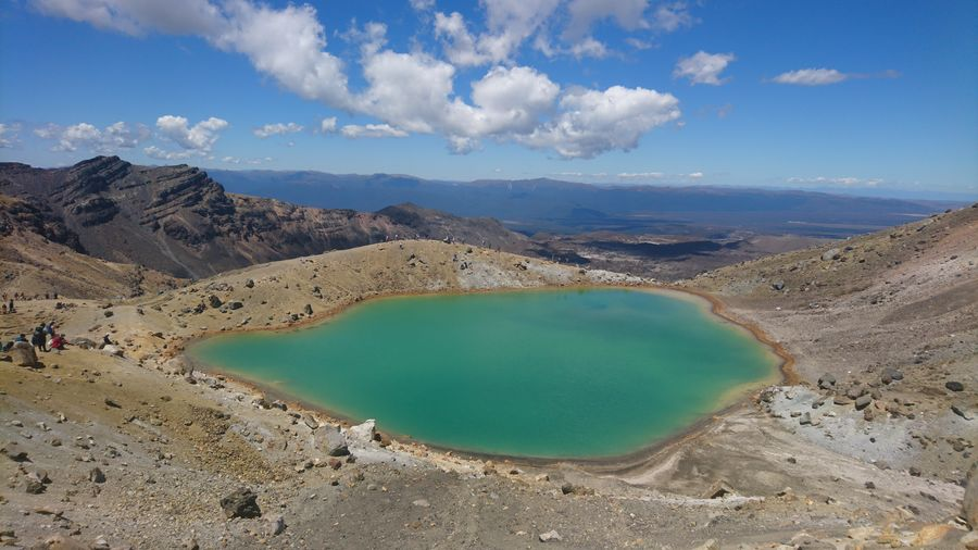 Amazing, yet toxic. Toxic Emerald Smaragd Tongariro Crossing New Zealand Lake Turquoise Volcano Cloud - Sky Nature Volcanic Crater Outdoors Sky Volcanic Landscape EyeEmNewHere