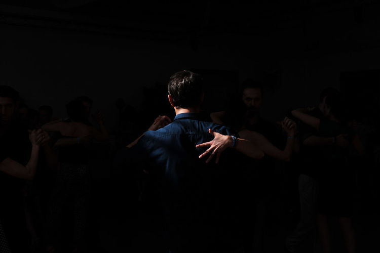 Black Background Calm Intimacy Milongueros Passion Place Of Heart Real People Serenity Tango Tangoargentino Tangueros EyeEmNewHere