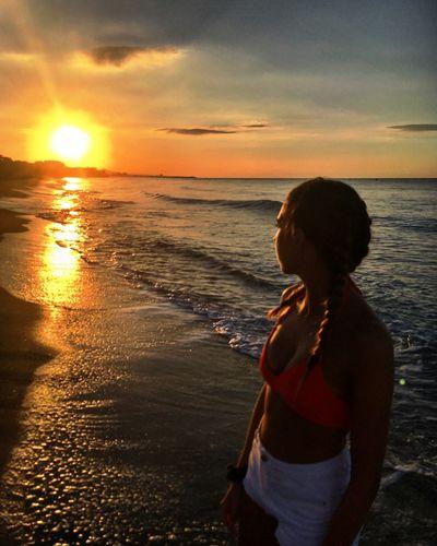 Roda de Barà Sunset Sea Horizon Over Water Water Beach Scenics Beauty In Nature