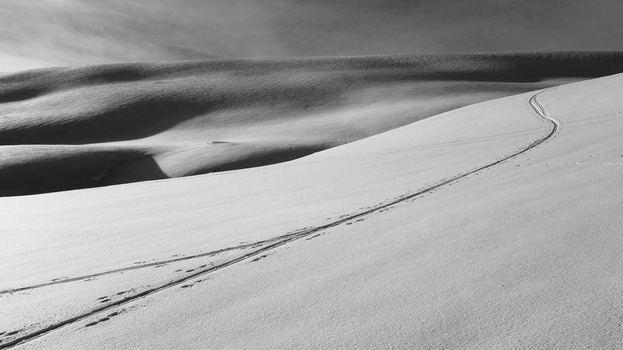 Idyllic Shot Of Snow Landscape Against Sky