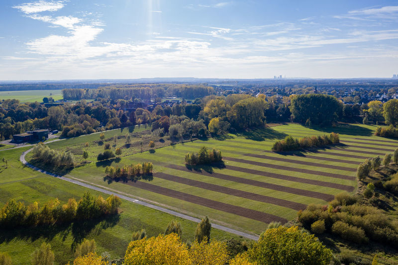 area near Rhine River, Cologne Plant Landscape Scenics - Nature Field Land Green Color No People Outdoors Drone Photography