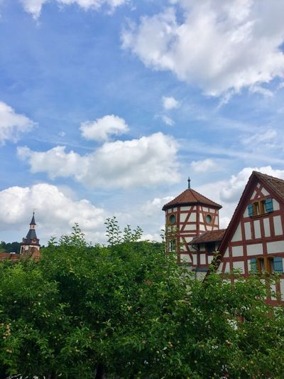 Medieval buildings in Creglingen Germany Germany Creglingen Historic Tower House Timbered Half Medieval Architecture Built Structure Cloud - Sky Building Exterior Plant Sky Building Tree Nature Place Of Worship Growth No People Green Color Travel Destinations Outdoors City