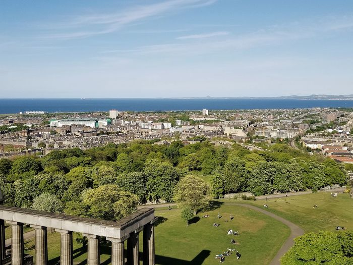 they all look like ants from up here Roman Columns Greenery Blue Sky Sea Sky Horizon Over Water Landscape Growing