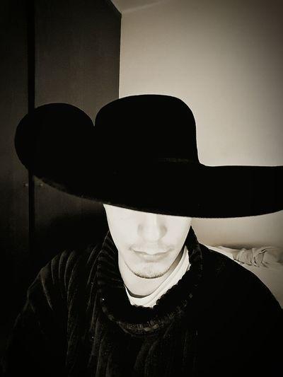 Black & White Captain Hat Renaissance Living In The Past Dreaming I'm Poet Writer