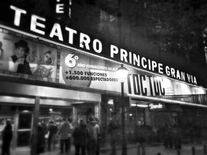 Madrid SPAIN Theatre Teatro Principe Gran Via EyeEm Best Shots EyeEm Gallery EyeEm Best Shots - Black + White Blackandwhite Black And White