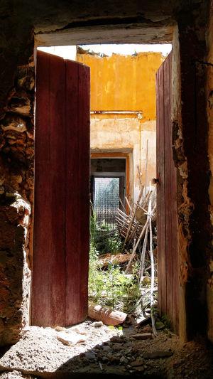 Abandoned Urbex Yellow Door Entrance Doorway Built Structure