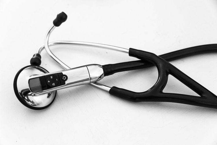 Stethoscope against white background