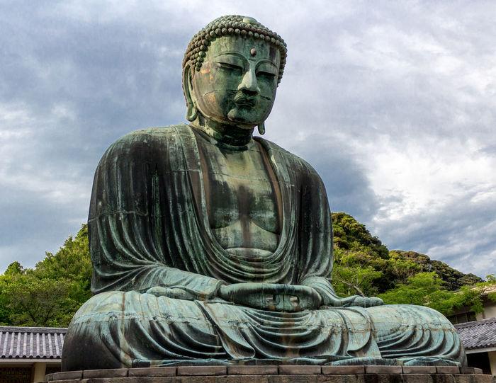 Buddha Great Buddha For Kamakura Statue Big Statue Japan Photography Clouds And Sky Daibutsu@Kamakura