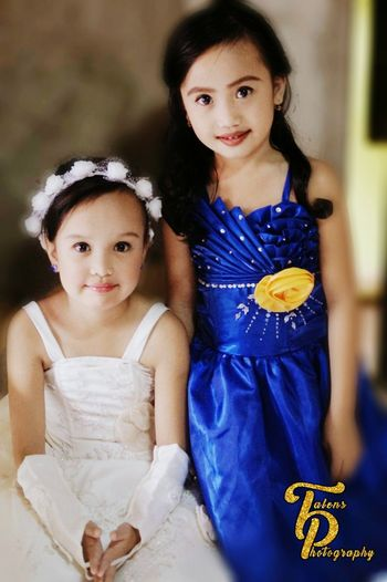 Looking At Camera EyeEmNewHere Younggirls Portrait Eyeem Philippines Cheerful Girls The Portraitist - 2017 EyeEm Awards Smiling Child Children Only Two People Friendship Beautiful Girl FilipinaQueens Young Women Beauty Wedding Dress Females End Plastic Pollution
