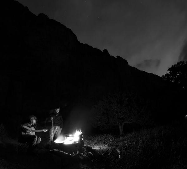 camping along