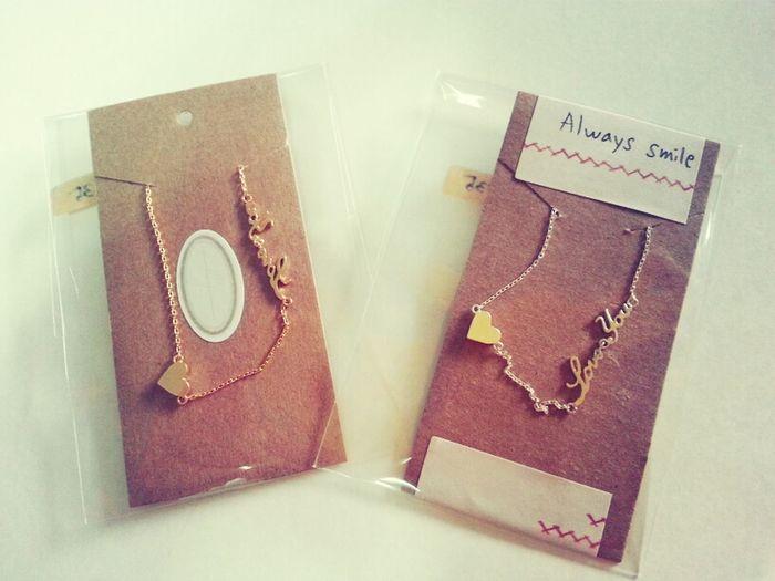 92.s Silver Adorable Love You Necklaces