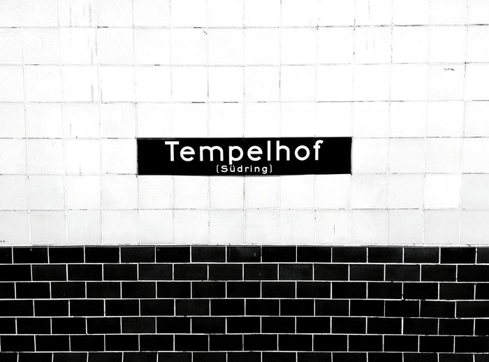 Day 236 - Tempelhof Berlin Blackandwhite Public Transportation Tempelhof 365project 365florianmski Day236