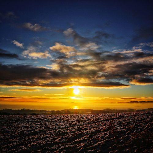 Frosty Sunrise Scotland Fife  Fife Scotland Scottish Sunrise Blue Sky Scotlandsbeauty Scottish Scenery EyeEm Best Shots EyeEmNewHere EyeEm Nature Lover EyeEm Selects City Sunset Horizon Blue Business Finance And Industry Dramatic Sky Awe Sky Landscape Cloud - Sky Sky Only Romantic Sky Heaven Shining Atmospheric Mood Moody Sky Cloudscape Infinity