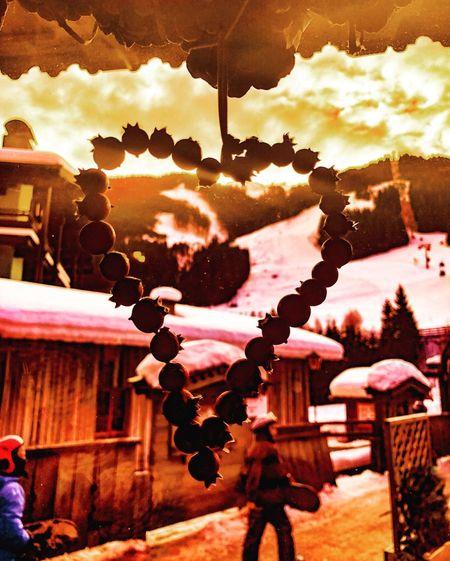 Heartland Travel Photography Travel Heart Salzburg Austria Schatteberg Hinterglemm Saalbach Winter Snow Slopes Ski Winter IPhoneX Mobilephotography ShotOnIphone IPhoneography IPhone Sunset Outdoors Sunlight Hanging Sky Day Close-up