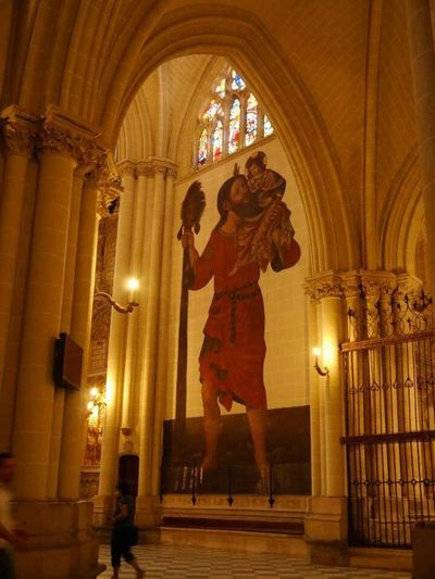 Miles Away wall painting inside the Cathedral in Toledo, Spain EyeEmNewHere Budget Traveller Toledo Spain Painting diy itinerary Your Ticket To Europe