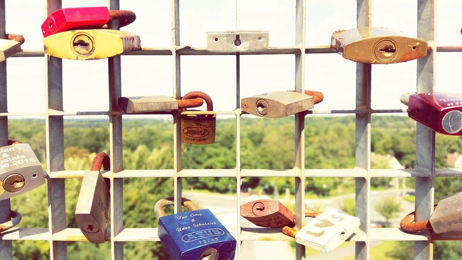 """""""Padlocked Love"""" Metal Focus On Foreground Day Heart Shape Outdoors No People Close-up Padlock Love Neverending Love Hope Dreams Herne  Holidays Summer Sightseeing Spot Sunny Day Omegatainment Couples Relationship"""