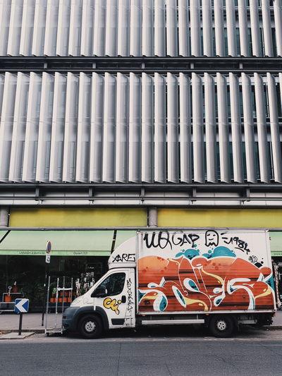 Paris mood Truck Streetphotography Street Street Photography Mood Paris France Paris, France  City Architecture Built Structure Street Art Spray Paint Vandalism Hip Hop Corrugated Iron Vehicle Parking Rap Spray Bottle Graffiti Land Vehicle The Architect - 2018 EyeEm Awards The Street Photographer - 2018 EyeEm Awards