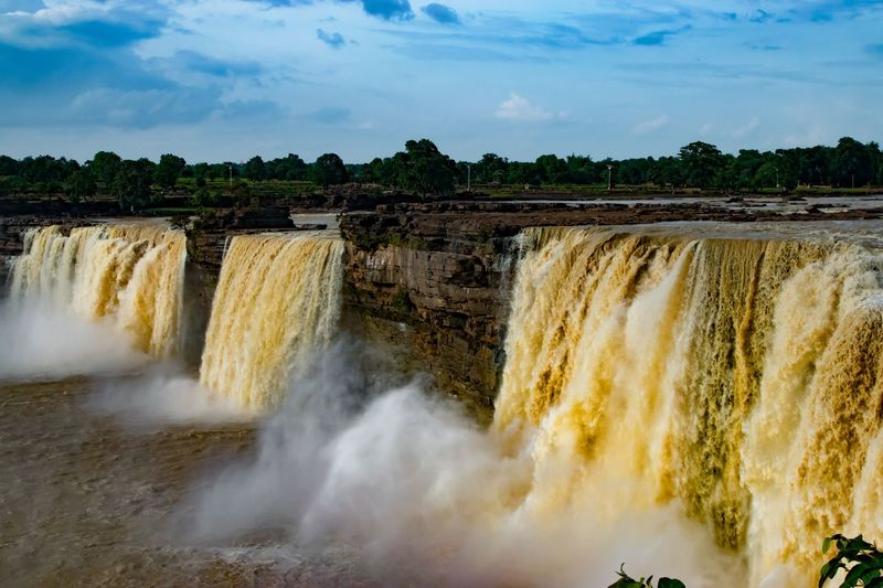 The Indian version of the Niagara falls Calm And Force Of The Water Waterfalls And Calming Views  Falls 🌊 Outdoors Go Higher Power In Nature No People Day Sky Nature Beauty In Nature The Great Outdoors - 2018 EyeEm Awards The Traveler - 2018 EyeEm Awards Summer Road Tripping