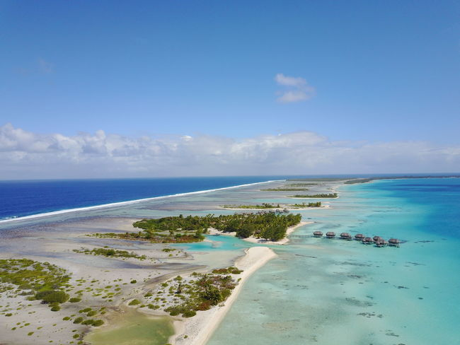 Tikehau Sea Sand Beach Vacations Turquoise Colored Idyllic Water Travel Destinations Tropical Climate Island Landscape Sky Tourism Tranquility Mer Ilsland Flying Vacations French Polynesia Green Color Forest Palm Tree Relaxing Tranquility