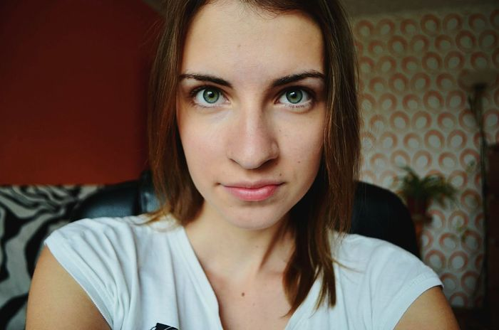 Thats me ^^ and i look at you Green Green Eyes Nose Enjoying Life Staring Hello World Nikon D5100  Lips Lithuaniagirl
