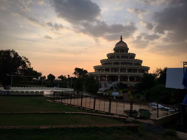 ArtOfLiving Temple SriSri Banglore India Architecture Sunset Building Exterior Cloud - Sky Outdoors Travel Destinations Sky Built Structure Day Tree Nature View Flowers 🌸🌸🌸