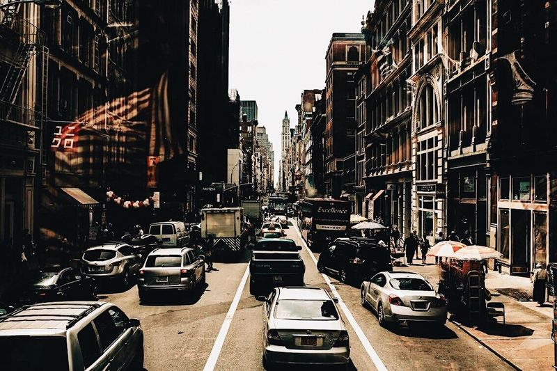 Car Architecture Built Structure Building Exterior City Land Vehicle Transportation Day Outdoors No People New York City