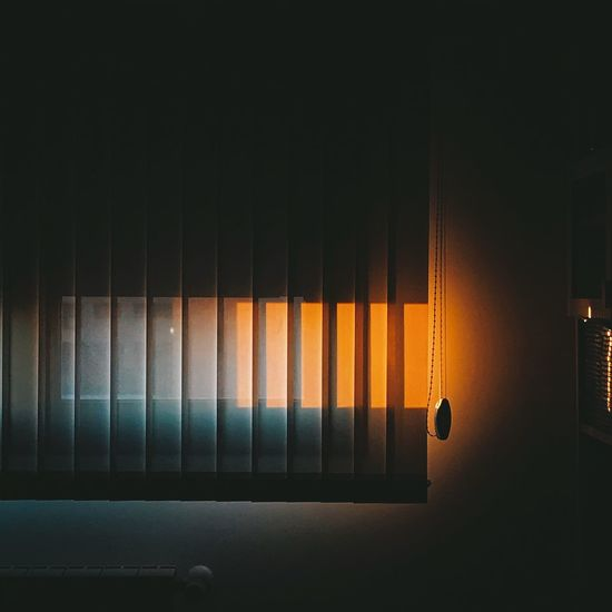 Indoors  No People Illuminated Hanging Architecture Lighting Equipment Window Closed Dark Wall - Building Feature Night Built Structure Curtain Wall Ceiling Home Interior