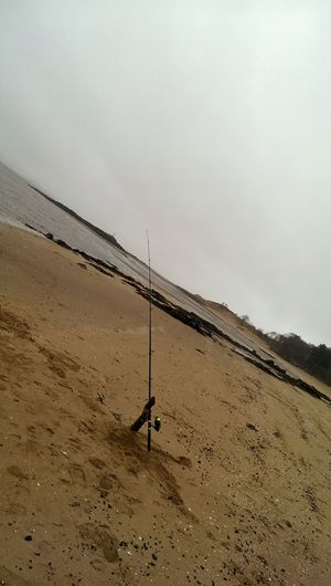 Fishing Beachfishing Relaxing Cold Weather Foggy Day Beachphotography Beach Taking Photos Beach Photography Seaview Sea And Sky Beachporn Seaside Sea Outdoor Photography TheGreatOutdoors Seafishing