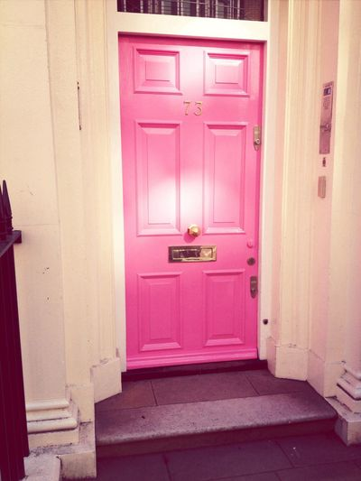 Pink doors at work for Breast Cancer Awareness. Nicetouch