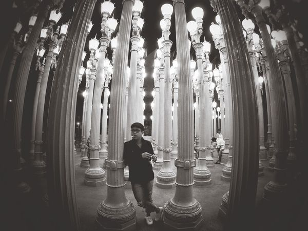 Los Angeles, California Blackandwhite Lights Lamps