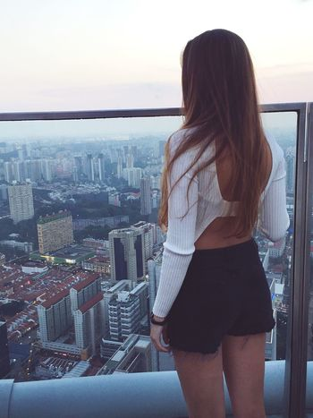 Skyscrapers View Cityscape Architecture Long Hair