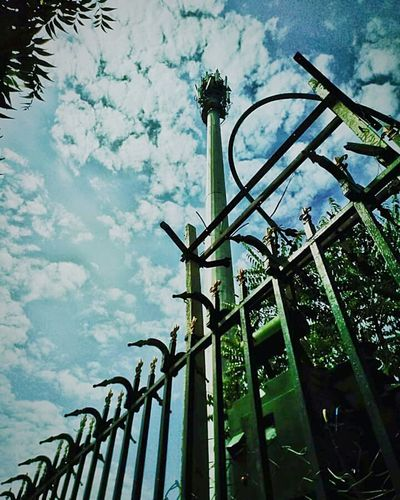 Low Angle View Cloud - Sky Sky Metal Tower Day No People PhonePhotography Cloudscape Outdoors EyeEmNewHere at Manipal University Jaipur