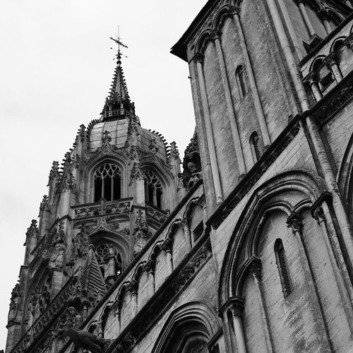 Gothic... Architecture Religion Place Of Worship Spirituality Built Structure Low Angle View Building Exterior History No People Outdoors Day Travel Destinations Sky