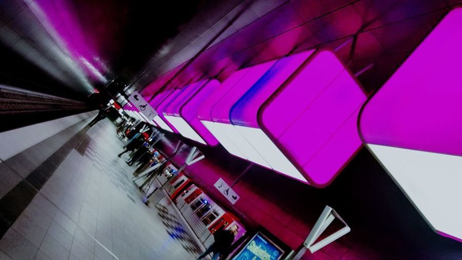 Pink Color Built Structure Multi Colored Architecture Men City Outdoors Illuminated Day Modern Neon People Close-up One Person Sky Pinklights Lieblingsteil