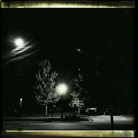 Lastnight Moon Light Blackandwhite Rawr Frontporch