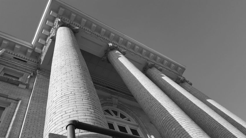 Low Angle View Architecture Built Structure Building Exterior Clear Sky Architectural Column Blue Day Column Travel Destinations Outdoors Colonnade City Life History No People Building Story Tourism Architectural Feature Wilcox County