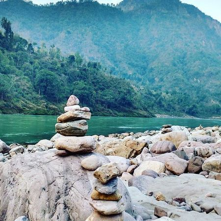 Somewhere on the bank of Ganga Roadtrip Rocknroll Rafting Myths Camping B Travel Trip Ganga Rishikesh Solo Mountains Trecking Adventuretime Adventure CliffJumping Cliffdiving Himalayas