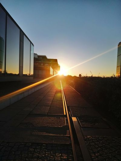 Oktober morgen Morning Elsenbrücke Sunset Berlin Sunset Sunlight Railroad Track Rail Transportation Train - Vehicle Sun Public Transportation Business Finance And Industry Sky Architecture