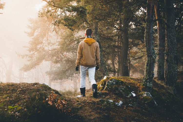 NotYourCliche Man In Nature Boyfriend An Eye For Travel France Lifestyles Gévaudan Lozère  Man Nature Nature Photography Tree Trees Day Fog Forest Forest Photography Forestwalk Full Length Nature One Person Outdoors People Tree Young Adult Fresh On Market 2018 This Is Masculinity