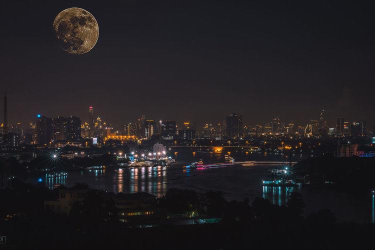 City Moon Sky