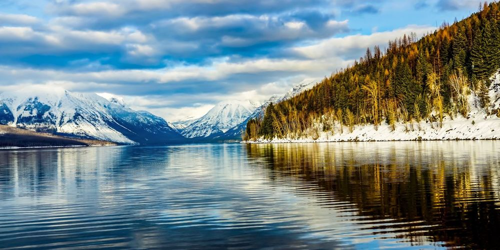 Mountain Scenics Beauty In Nature Lake Nature Water Shades Of Winter Tranquil Scene Sky Tranquility Cloud - Sky Reflection Mountain Range Waterfront Cold Temperature No People Winter Snow Outdoors