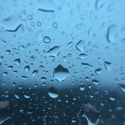 IPSWeather Rain Raindrops Blue Cobalt Cobalt Blue IPhoneography Iphonephotography IPS2016Blue IPS2016Closeup Blue Wave
