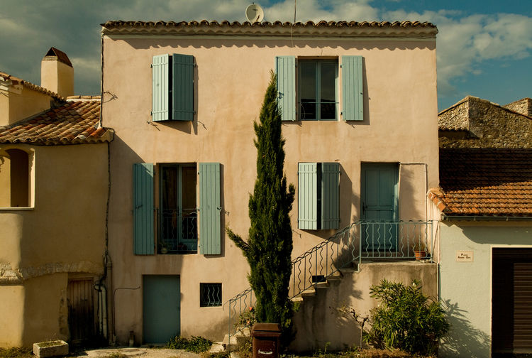 Afternoon Light In France Apartment Architecture Building Exterior Built Structure Day House House Front Languedoc-Roussillon Lussan, Provence No People Outdoors Residential Building Sky Small House Window