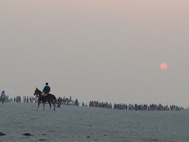 People going to Bank of River Ganga for Festival Chhath Puja