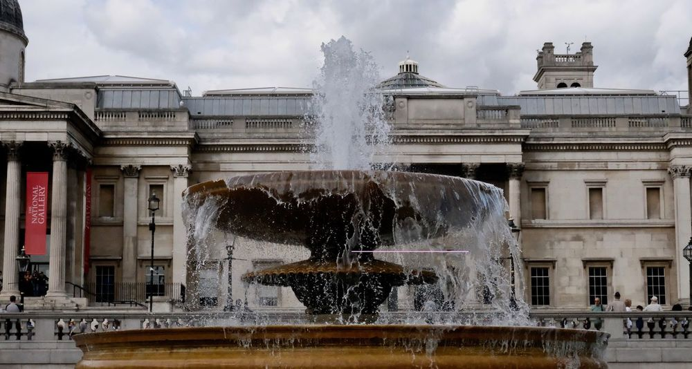 Architecture Blurred Motion Building Exterior Flowing Water Fountain Motion No People Outdoors Spraying Water