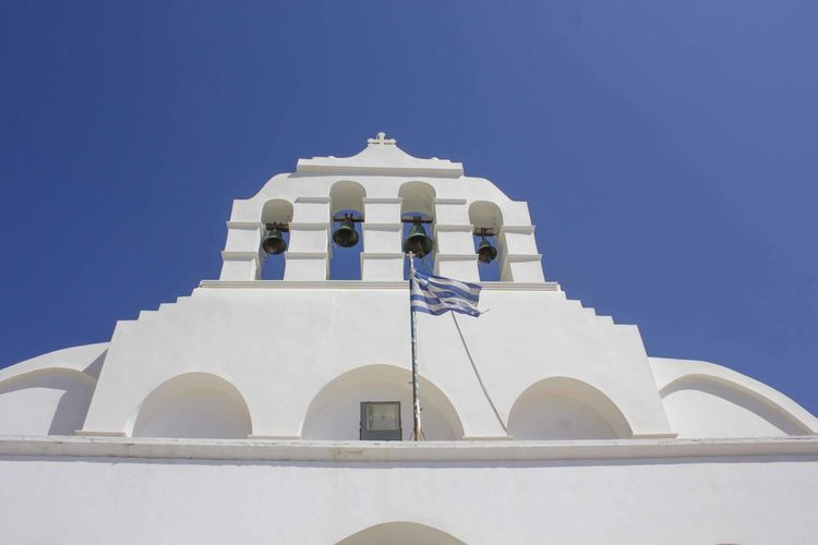 Architectural close up of naxos cathedral