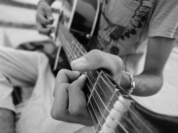 Musical Instrument Music Guitar Guitarist Plucking An Instrument Playing Electric Guitar Arts Culture And Entertainment Musician Bass Instrument Performance Only Men Leisure Activity Men Bass Guitar String Instrument Midsection Editing First Eyeem Photo Random Shots Check This Out Close-up